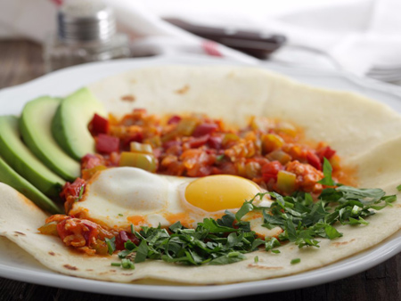 صبحانه های تخم مرغی کشورهای مختلف, صبحانه های رایج در کشورهای مختلف با تخم مرغ