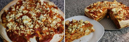 طرز تهیه پیتزا با نان ترتیلا,درست کردن پیتزا با نان ترتیلا