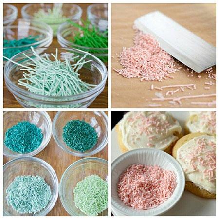 درست کردن ترافل رنگی, روش های تهیه ی ترافل رنگی  طرز تهیه ترافل رنگی در خانه  مراحل تهیه ترافل رنگی در خانه  درست کردن ترافل رنگی با خمیر فوندانت