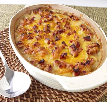 گراتن سوسیس و سیب زمینی,طرز تهیه ی گراتن سوسیس و سیب زمینی