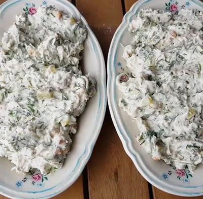 درست کردن سالاد بهاری, طرز تهیه سالاد مرغ