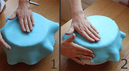 مهارت های استفاده از خمیر فوندانت, تزیین کیک با خمیر فوندانت