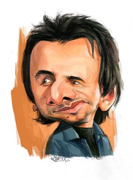 کاریکاتور چهره,کاریکاتور چهره های معروف,کاریکاتور چهره امین حیایی