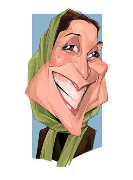 کاریکاتور چهره,کاریکاتور چهره های معروف,کاریکاتور فاطمه معتمدآریا