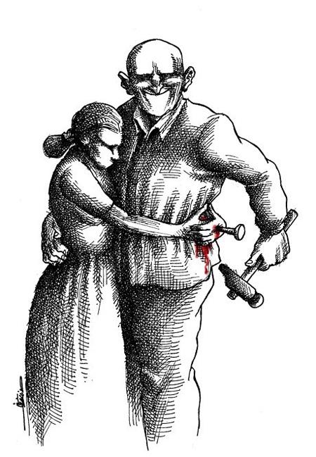 روز مبارزه با خشونت علیه زنان, کاریکاتور روز مبارزه با خشونت علیه زنان