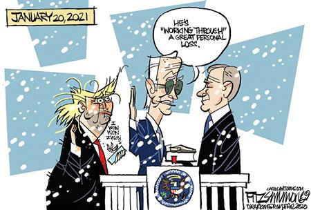 کاریکاتور کرونا , کاریکاتور  ترامپ