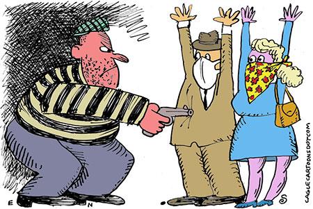 کاریکاتور مفهومی, کاریکاتور کرونا