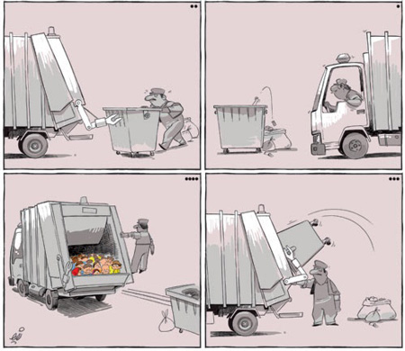 کاریکاتور های خنده دار, کاریکاتور مفهومی