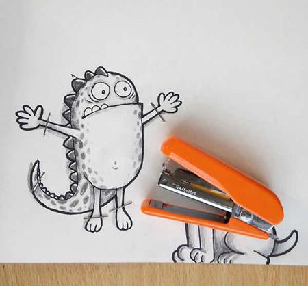 نقاشی های طنز با اشیا, کاریکاتور و تصاویر طنز