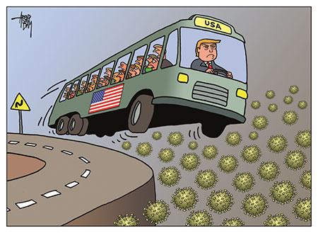 کاریکاتور امریکا, کاریکاتور سیاسی ایران