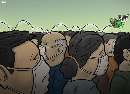 کاریکاتور ویروس کرونا ، طنز درباره کرونا