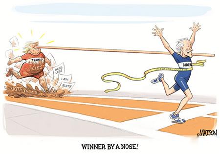 کاریکاتور ترامپ و بایدن, کاریکاتور بایدن