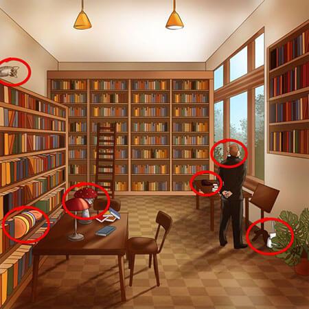 معما های تصویری با جواب, اشتباهات تصاویر را پیدا کنید