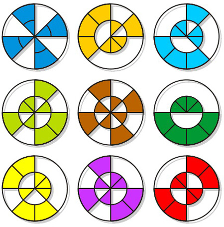 تست هوش: دایره های برش خورده