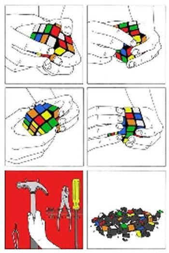 سریعترین و آسانترین راه حل مکعب روبیک!