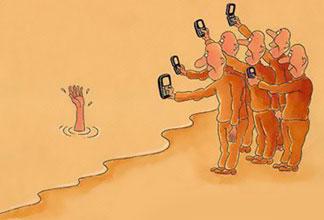 مطلب طنز و خنده دار در مورد استفاده از تلفن همراه و گوشي موبايل