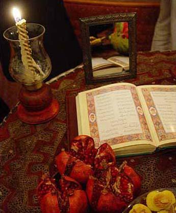 فال حافظ و شب یلدا, فال شب یلدا, آداب و رسوم شب یلدا