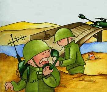 معمای انفجار در میدان جنگ