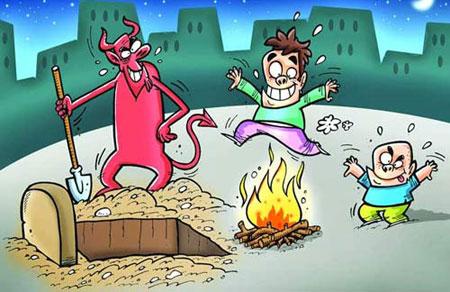 کاریکاتور چهارشنبه سوری,مراسم چهارشنبه سوری