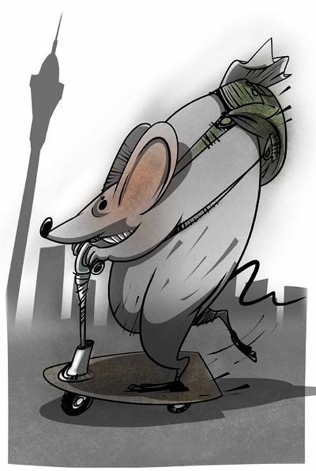 کاریکاتور تهران و موش, کاریکاتورهای خنده دار