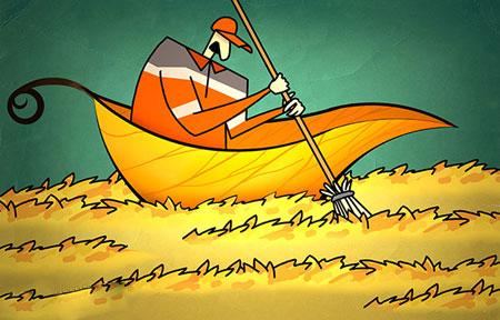 پاییز, کاریکاتور و تصاویر طنز