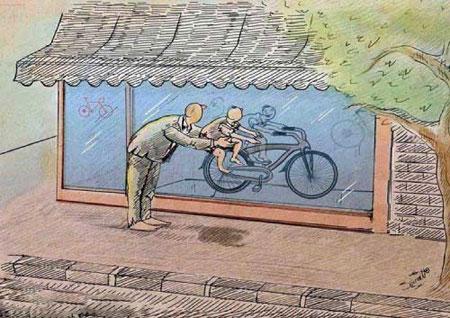 کاریکاتور معنادار و جدید فقر