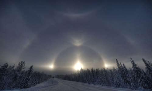 شگفت انگیزترین طلوع آفتاب در فنلاند!