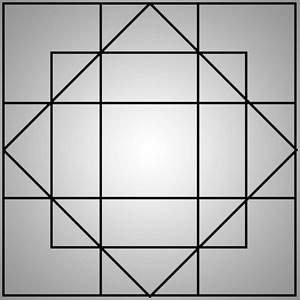 معمای تعداد مربع ها, معمای ریاضی