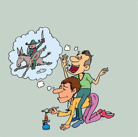 کاریکاتور سیگار کشیدن,کاریکاتور تزریق مواد مخدر,کاریکاتور اعتیاد