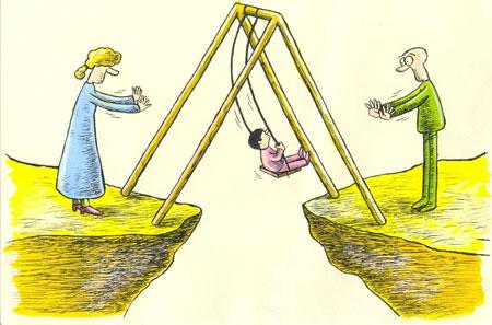 کاریکاتور مفهومی, کاریکاتور طلاق