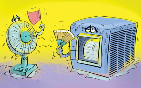 کاریکاتور گرمای هوا, مطالب طنز و خنده دار