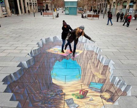 نقاشی های جالب سه بعدی,خواندنیهای دیدنی