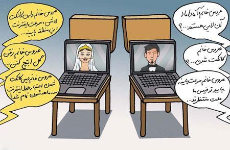 ازدواج اینترنتی, کاریکاتور ازدواج