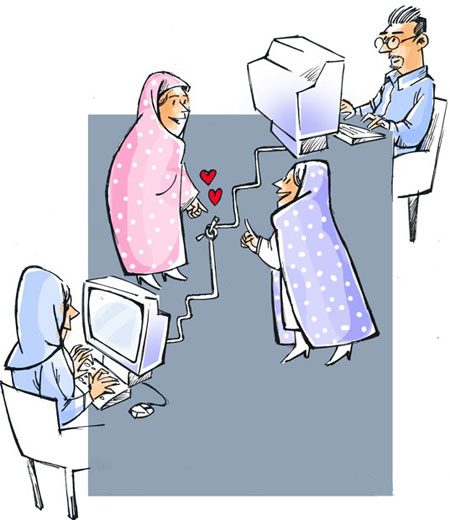 کاریکاتور ازدواج, طنز ازدواج اینترنتی