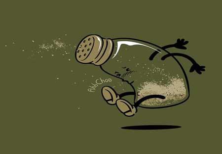 کاریکاتور و تصاویر طنز, زندگی روزمره غذاها