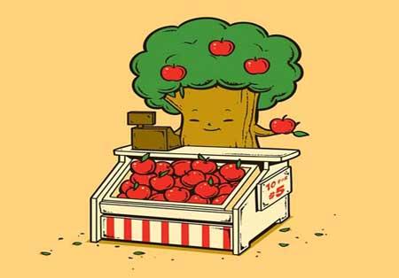 عکس های خنده دار, عکس خنده دار میوه ها