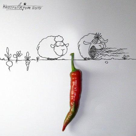 کاریکاتورهای زیبای مجید خسروانجم