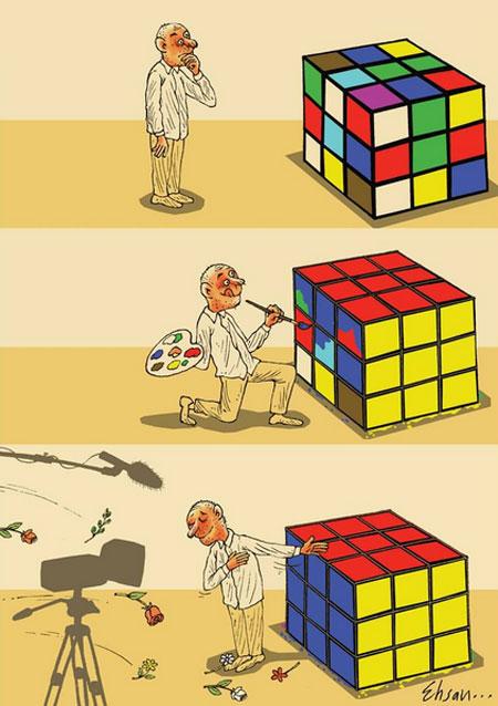 کاریکاتورهای احسان گنجی, کاریکاتور و تصاویر طنز