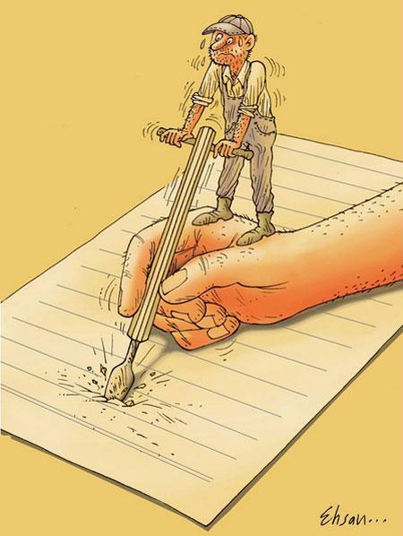 کاریکاتورهای فلسفی, کاریکاتور های آموزنده
