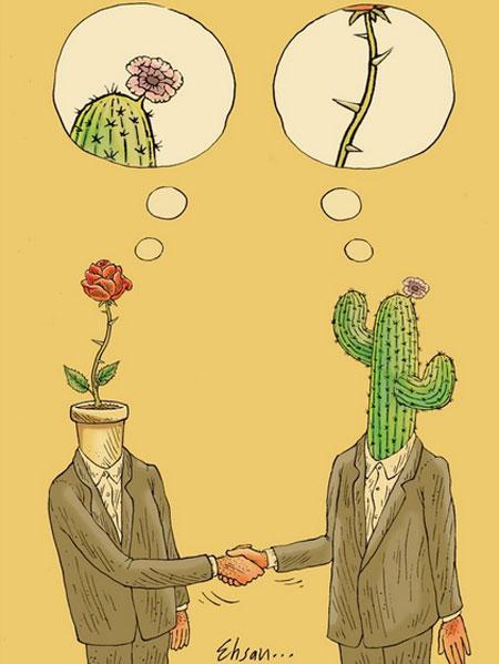 کاریکاتورهای احسان گنجی, کاریکاتورهای فلسفی