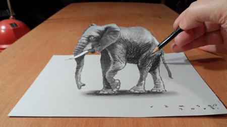 نقاشی سه بعدی خیابانی, نقاشی های سه بعدی جالب
