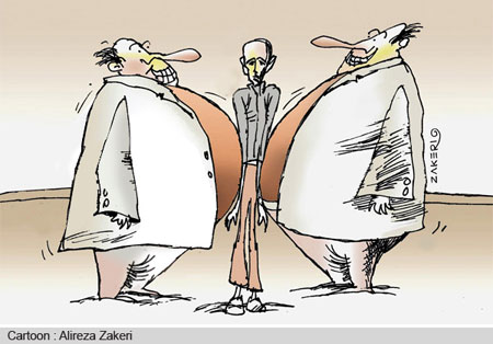 کاریکاتور فقیر و غنی, کاریکاتور کارتون خوابی
