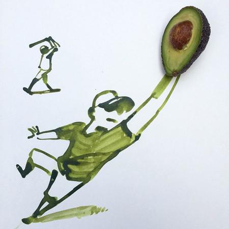 نقاشی ترکیبی و طنز با اشیا(2)