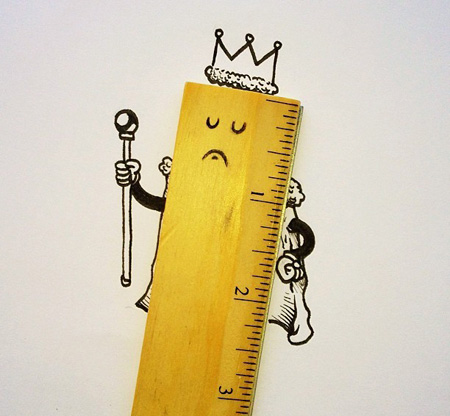نقاشی با اشیا, کاریکاتور و تصاویر طنز