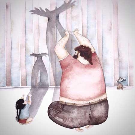 عکس نوشته پدر و دختر , عکس عاشقانه پدر و دختر