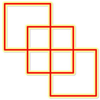 تست هوش تصویری, تست هوش عبور از مسیرهای مربعی