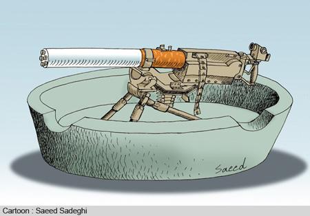 اعتیاد به مواد, کاریکاتور تزریق مواد مخدر