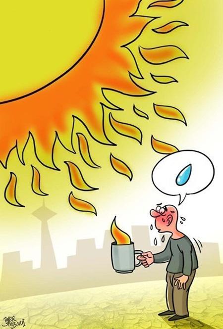 کاریکاتور تابستان و گرمای هوا (۲)