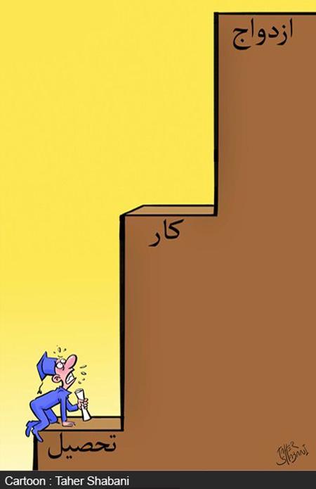 کاریکاتورهای موانع و مشکلات ازدواج, کاریکاتور مشکلات ازدواج