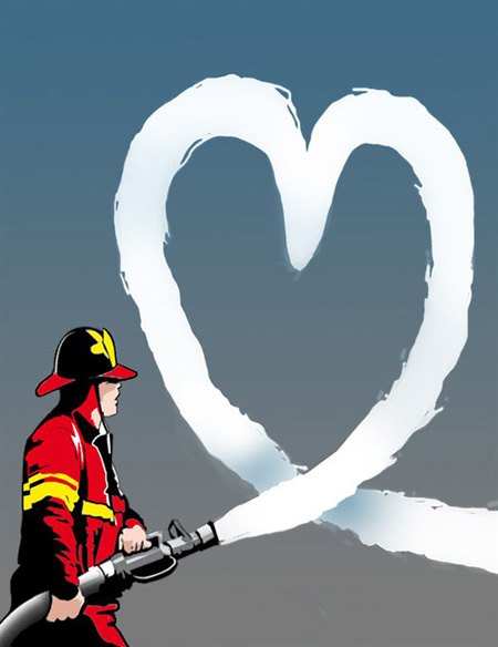 کاریکاتور روز آتش نشان, کاریکاتور آتش نشان